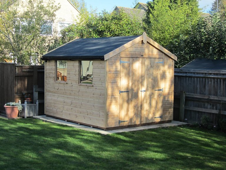 Timber Garden Shed with Double Opening Doors