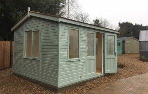 3.6 x 4.2m Langham Garden Studio at our Cranleigh Show Site