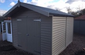 Superior Shed at Cranleigh in Taupe