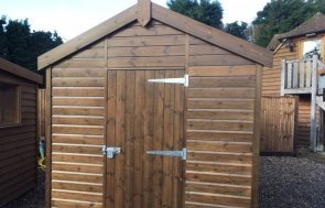 Superior Shed at Cranleigh Showsite Walnut