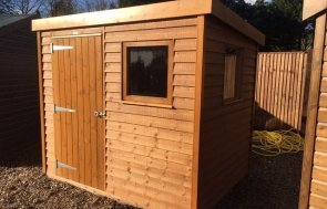 Superior Shed at Cranleigh Showsite Teak