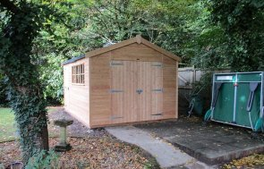 Large Timber Garden Shed with Double Doors
