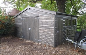 Timber Garage with Enhanced Security