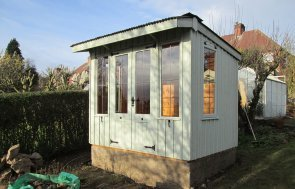 National Trust Summerhouse with Corrugated Roof