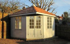 Timber Corner Summerhouse with Cedar Roof