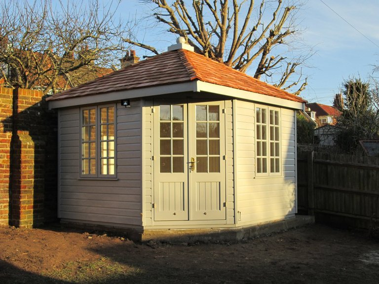 Timber Corner Summerhouse with Cedar Roof