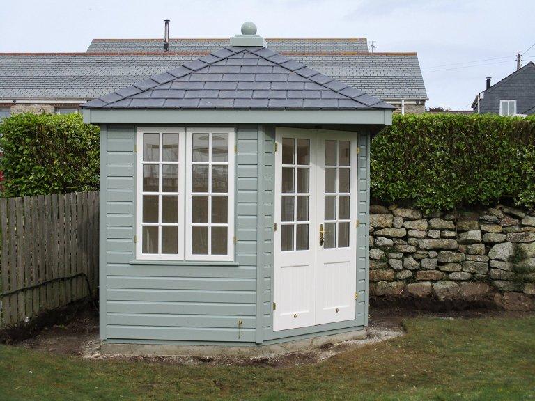 Timber Corner Summerhouse with Georgian Windows