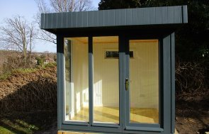 1.8 x 2.4m Slate Salthouse Studio with Painted Matchboard internal lining