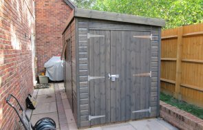 Superior Shed with Custom Door
