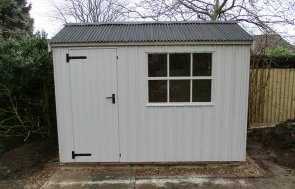 National Trust Felbrigg Garden Shed with Corrugated Roof