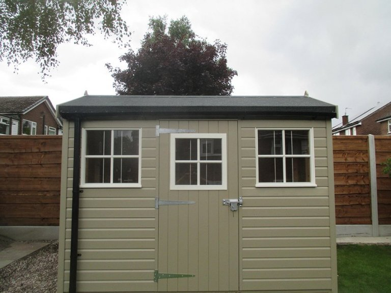 Superior Garden Shed with Two-Tone Paint Finish
