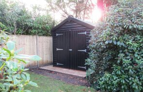 Superior Garden Shed in Sikkens Black