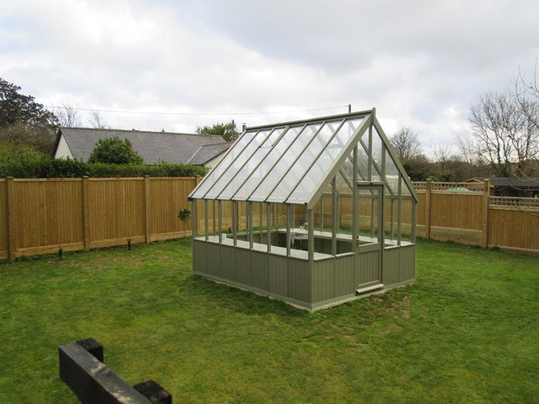 Large Timber Greenhouse in Ash