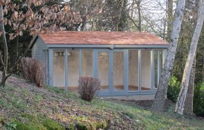 Modern Garden Studio with Cedar Roof
