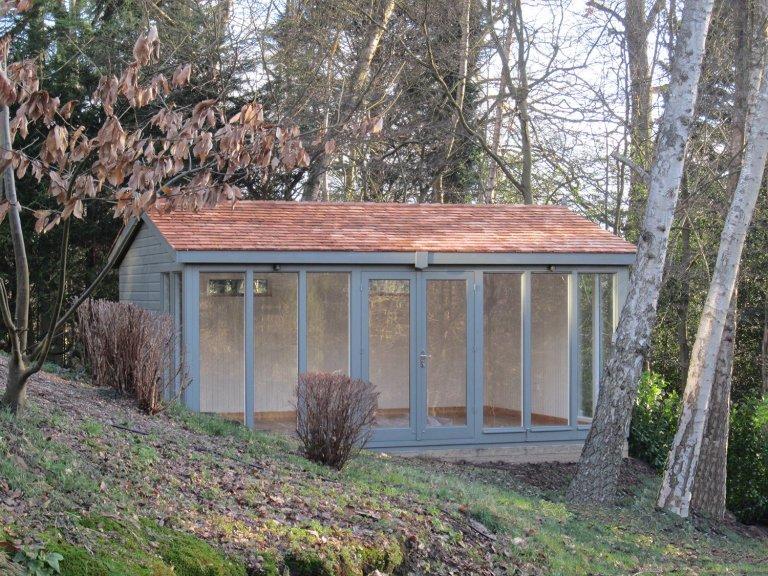 Modern Garden Studio with Cedar Roof