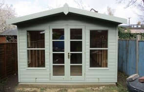 Bespoke Blakeney Summerhouse with Shiplap Cladding painted in Lizard