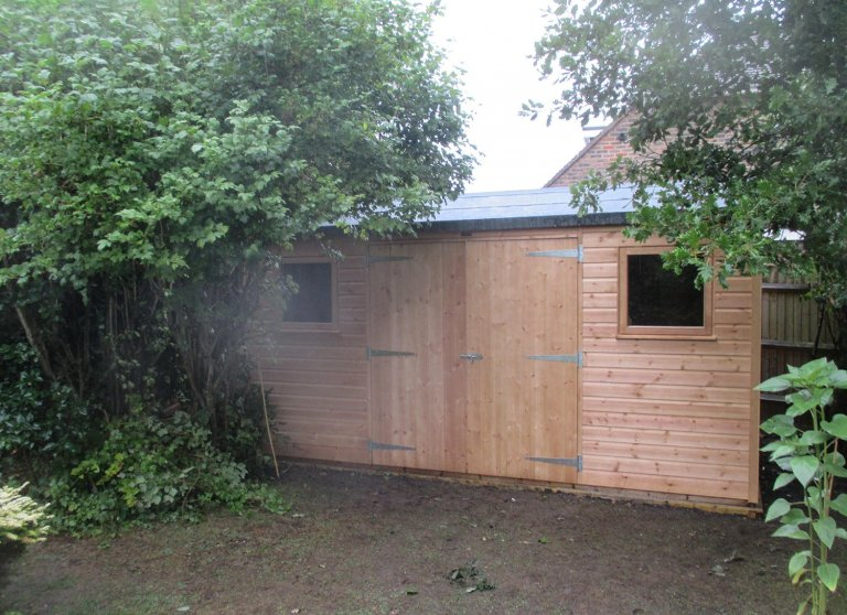 Superior Shed with Symmetrical Exterior