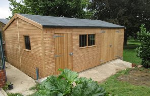 Large Garage Shed with Security Pack