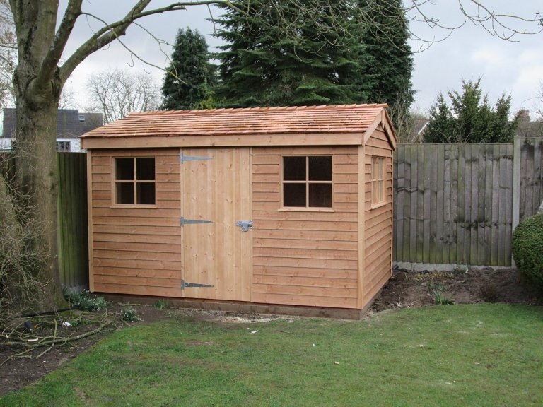 Attractive Superior Shed with Cedar Shingle Roof
