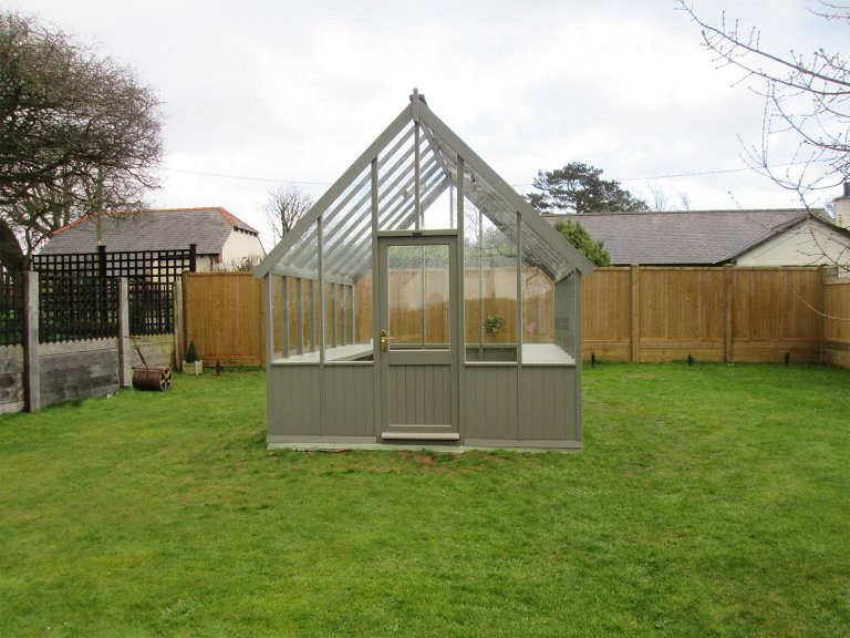 Greenhouse with Polished Brass