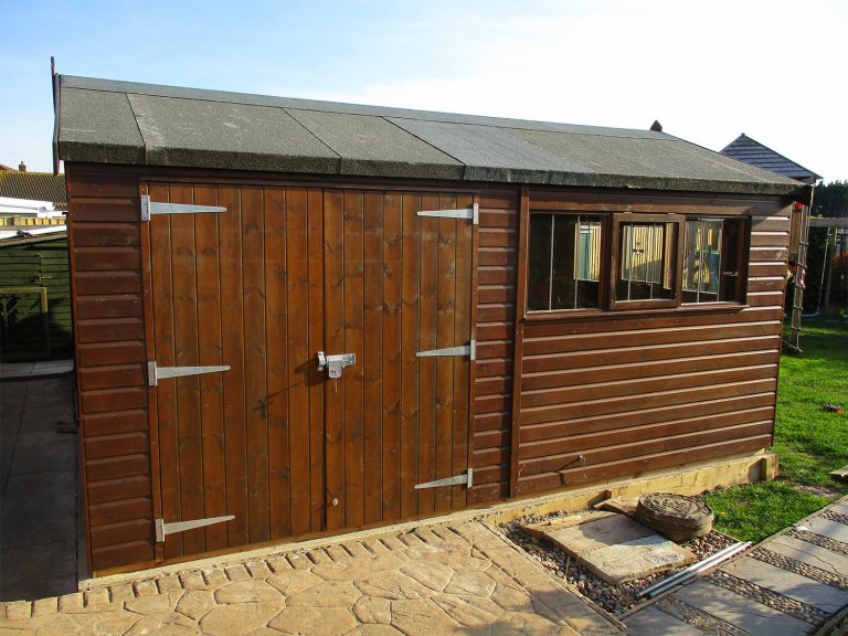 Large Timber Shed with Security Pack