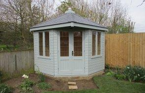 Corner Summerhouse with Leaded Windows