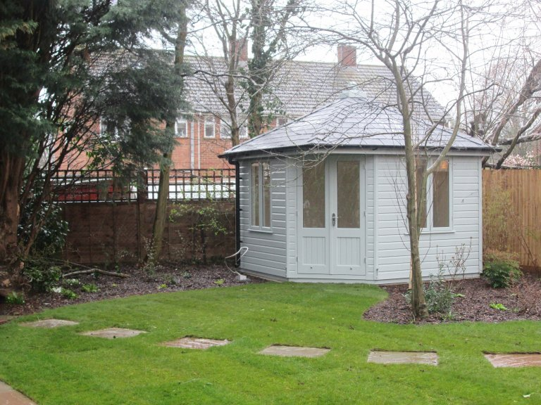 Timber Corner Summerhouse with Double Doors