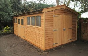 Large Timber Shed with Extra Set of Doors