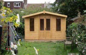 Blakeney Summerhouse in Light Oak Cladding
