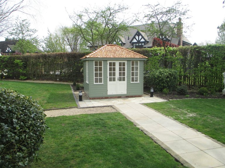 Traditional Timber Summerhouse with Cedar Roof