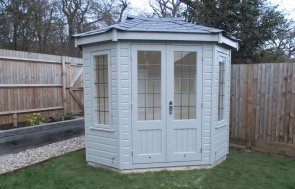 Octagonal Timber Summerhouse with Leaded Windows
