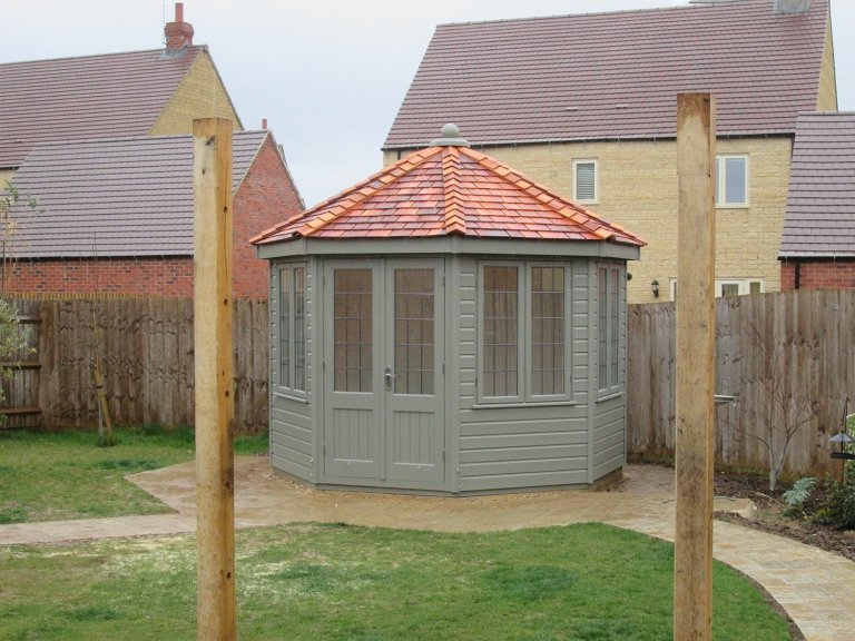 Large Octagonal Summerhouse with Cedar Roof