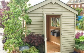 2.4 x 3.0m Superior Shed with Georgian windows from our 2019 RHS Chelsea Flower Show Display