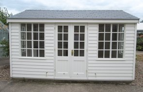 Holkham Summerhouse at Nottingham Showsite Painted in Cream