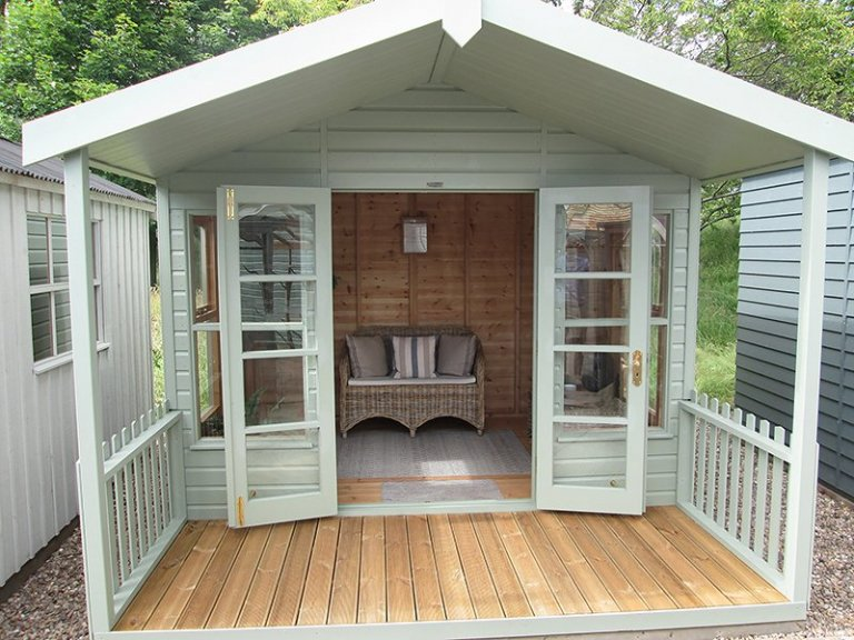 3.0 x 3.6m Morston Summerhouse at our Nottingham Show Site