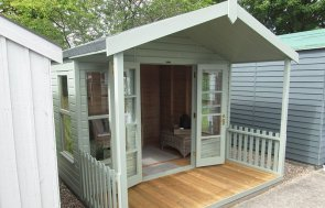 3.0 x 3.6m Morston Summerhouse at our Nottingham Show Site in Lizard
