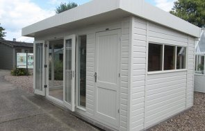 3.0 x 4.8 Salthouse Studio at our Nottingham Show Site with external partition