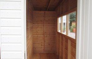 3.0 x 4.8 Salthouse Studio at our Nottingham Show Site - inside the external partition