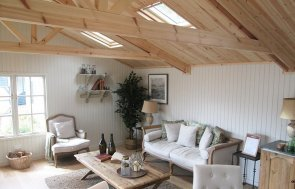 Take a look inside our 6.0 x 6.0m Pavilion Garden Room at our Nottingham Show Site