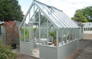 3.0 x 3.6m Greenhouse at our Nottingham Show Site made from 4mm toughen safety glass