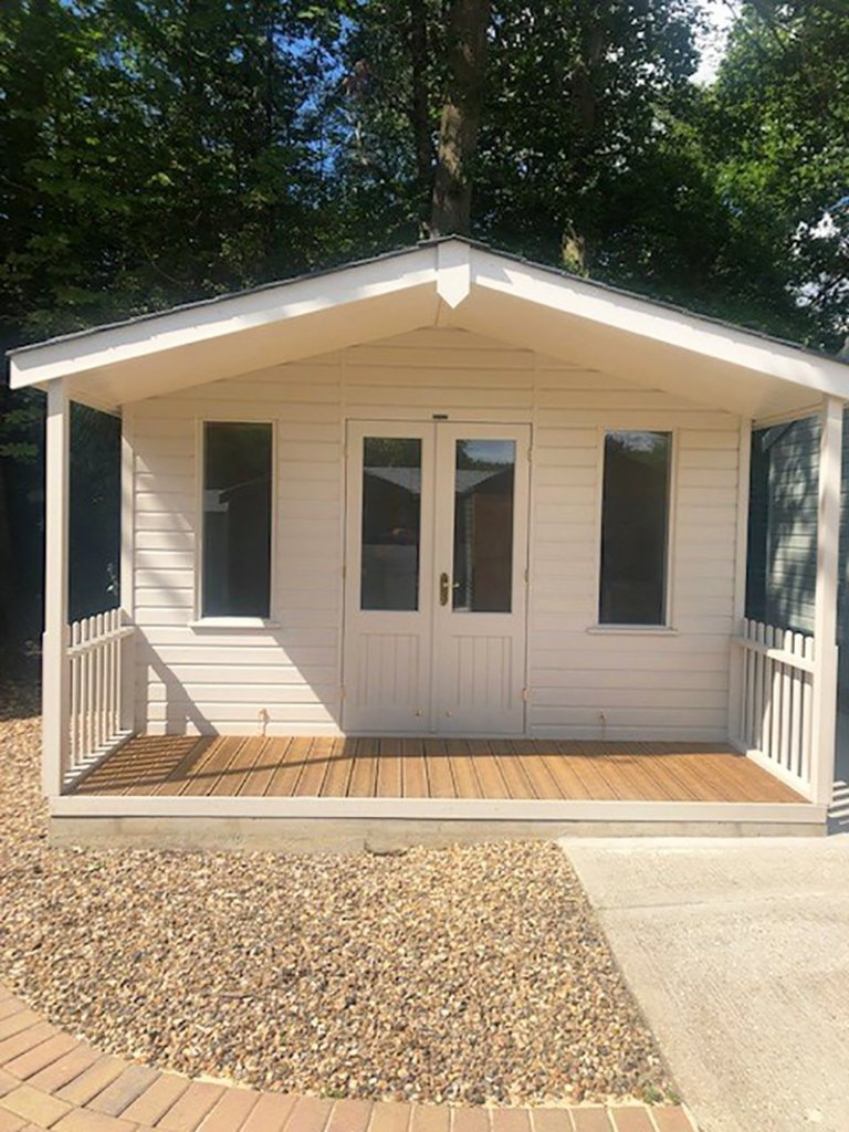 3.6 x 4.8m Morston Summerhouse at our Sunningdale Show Site