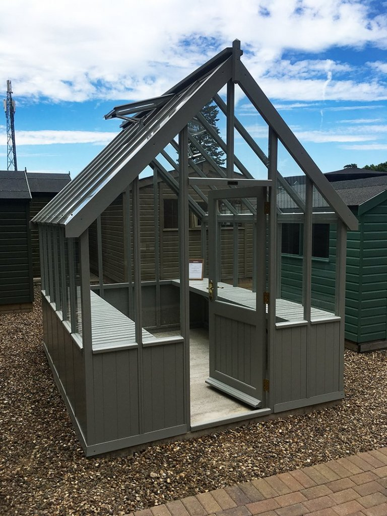 2.4 x 3.0m Greenhouse at our Sunningdale Show Site