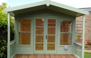 Morston summerhouse with veranda in shade Lizard from our exterior paint system