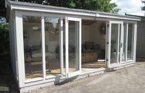 3.6 x 5.4m Burnham Studio at our Nottinghamshire Show Site in the shade Twine from our exterior paint system