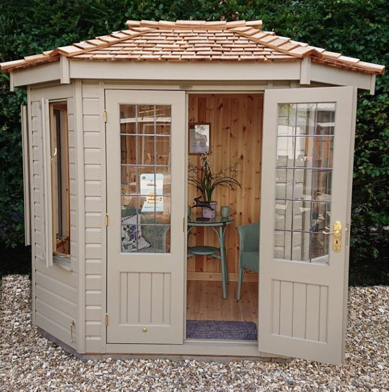 1.8 x 2.5m Wiveton Summerhouse at our Newbury Show Site