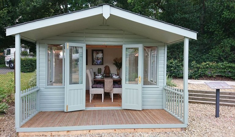 3.6 x 4.8m Morston Summerhouse at our Newbury Show Site