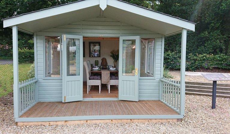 3.6 x 4.8m Morston Summerhouse at our Newbury Show Site
