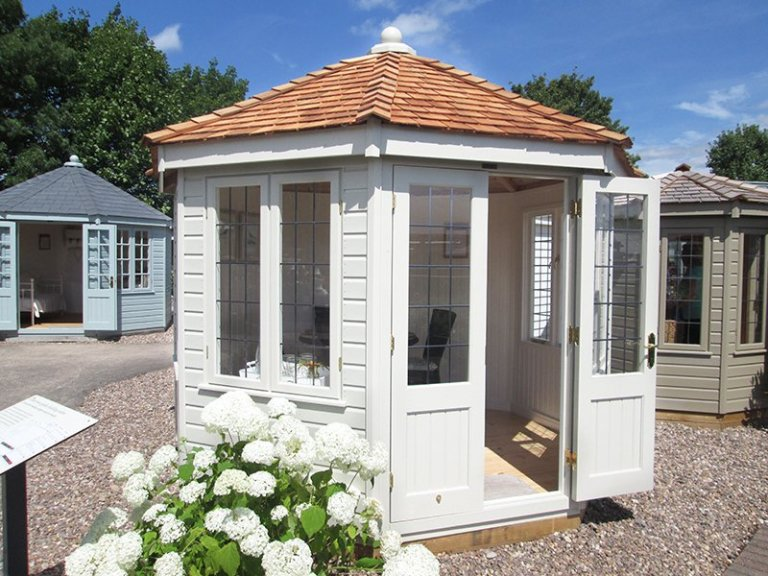 3.0 x 3.0m Wiveton Summerhouse at our Nottingham Show Site