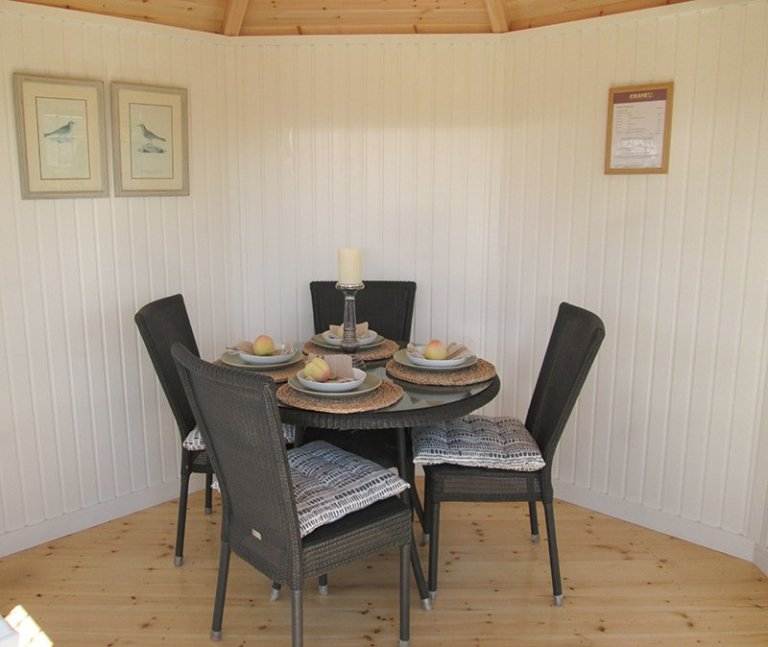 Inside the 3.0 x 3.0m Wiveton Summerhouse at our Nottingham Show Site
