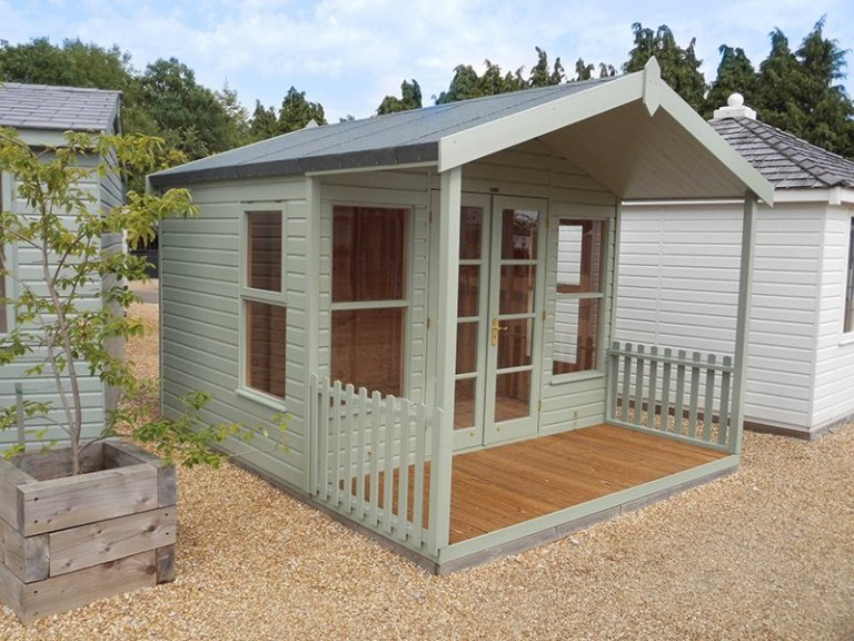 3.0 x 3.6m Morston Summerhouse at our Burford Show Site